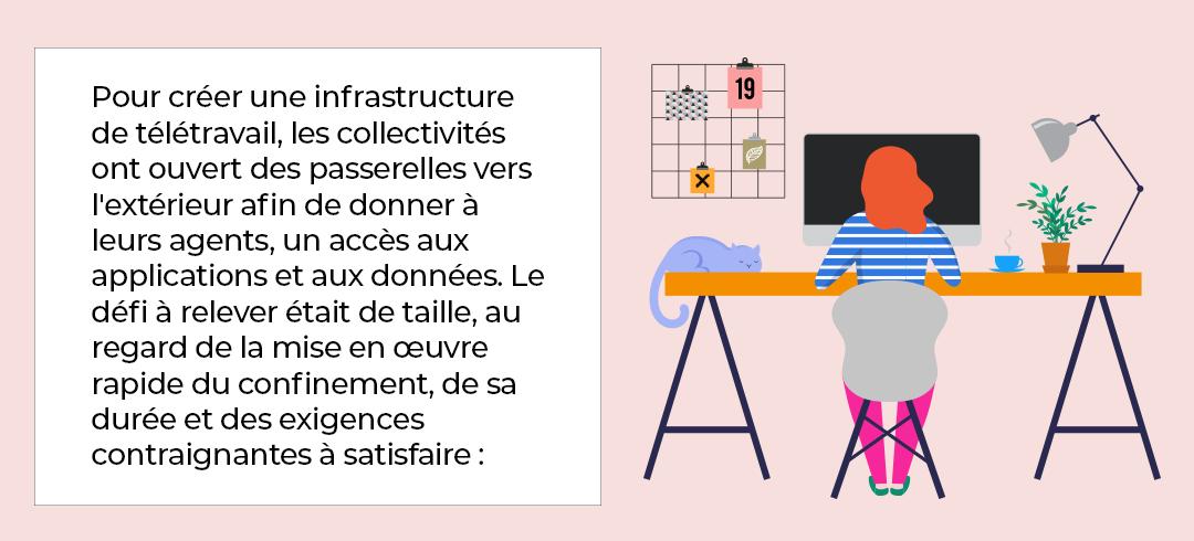 Infrastructure de télétravail en collectivité locale