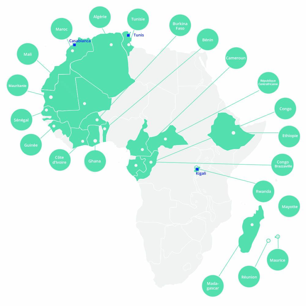 Quelles sont les références de Tactis en Afrique ?