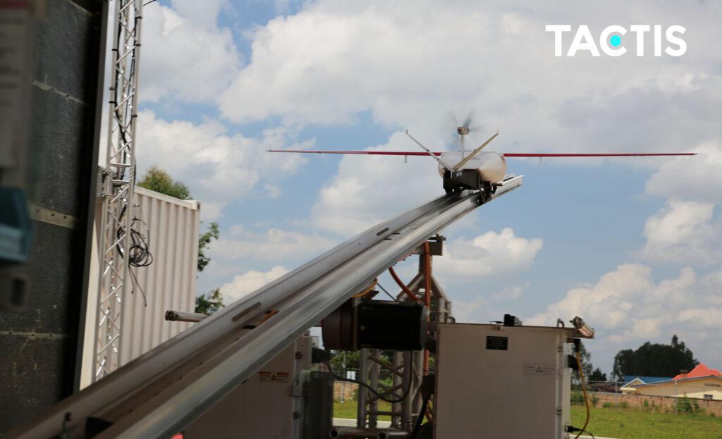 Zipline - Décollage de drone